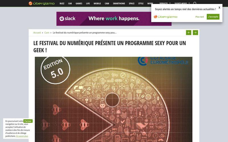 Le festival du numérique présente un programme sexy pour un geek !