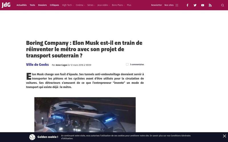 Boring Company : Elon Musk est-il en train de réinventer le métro avec son projet de transport souterrain ? | Journal du Geek