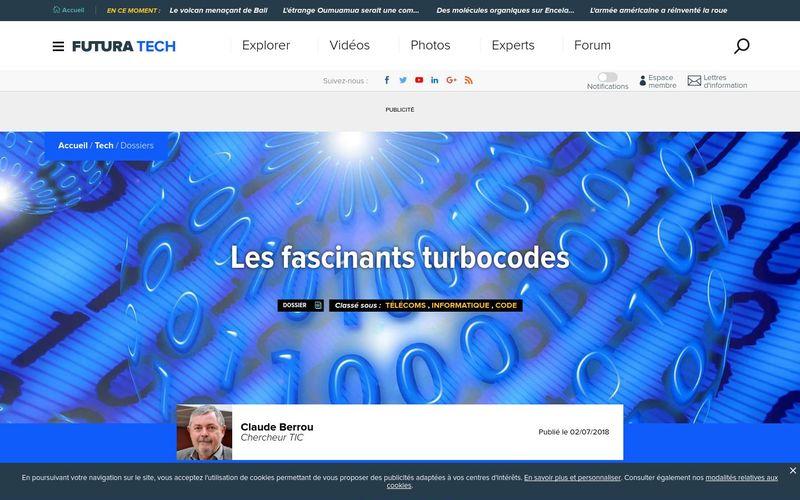 Futura sciences : Les fascinants turbocodes
